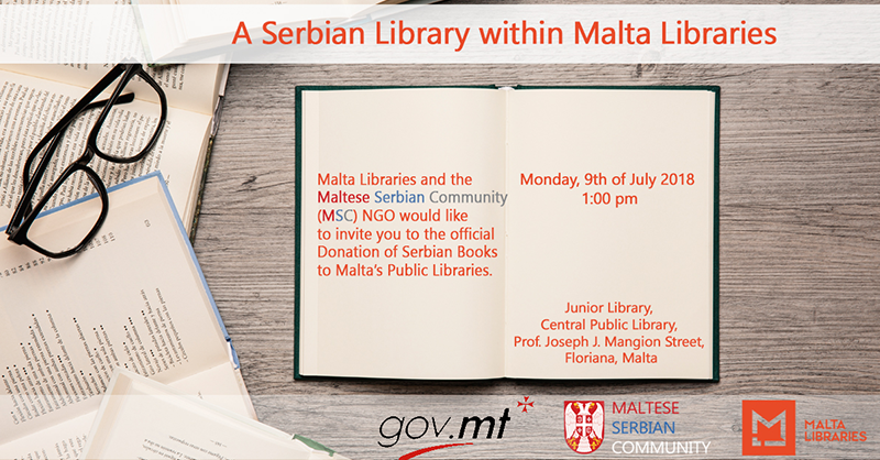 Malta Libraries and the Maltese-Serbian Community